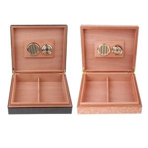 Spanish Cedar Wood Cigar Humidor Case W/ Humidifier Hygrometer Cigar Box