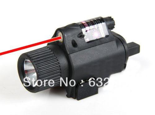 M6 Tactical Flashlight LED Rode lasercombo met tuimelschakelaar / M6 - Jacht