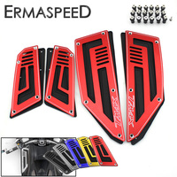 4pcs 1 Set Motorcycle CNC Aluminum Front And Rear Footpegs Plate Footboard Steps Scooter Accessories For