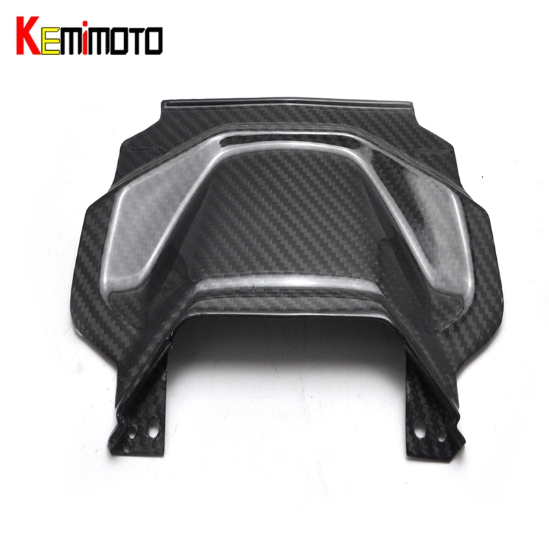 KEMiMOTO For Yamaha MT 07 MT07 FZ-07 MT-07 2014 Motorcycle Accessories Rear Tail Panel twill weave Real Carbon Fiber kemimoto for yamaha mt07 mt 07 mt 07 fz 07 accessories cnc aluminum rear tire hugger chain guard 2014 2015 2016 2017