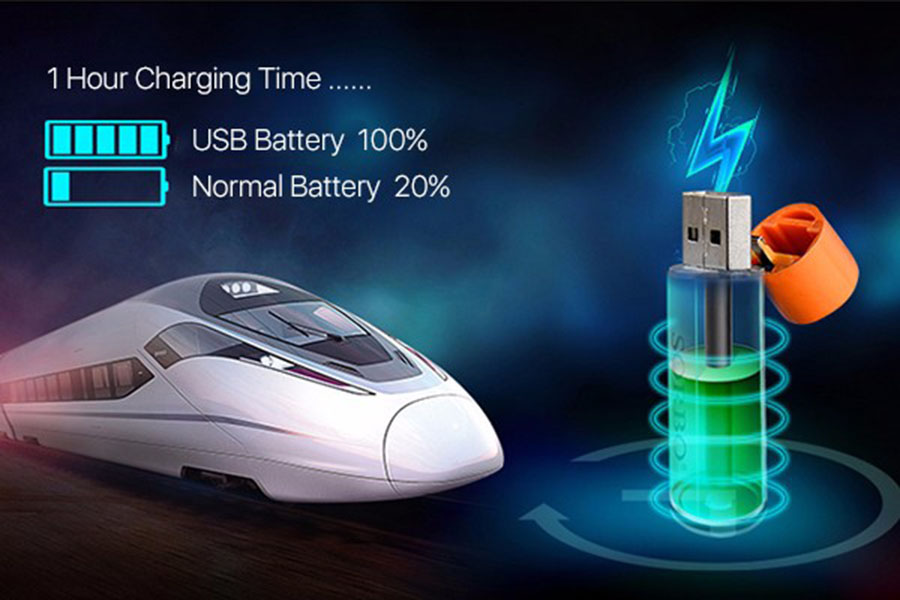 Bateria recarregável aa 1.5 v 1200 mah