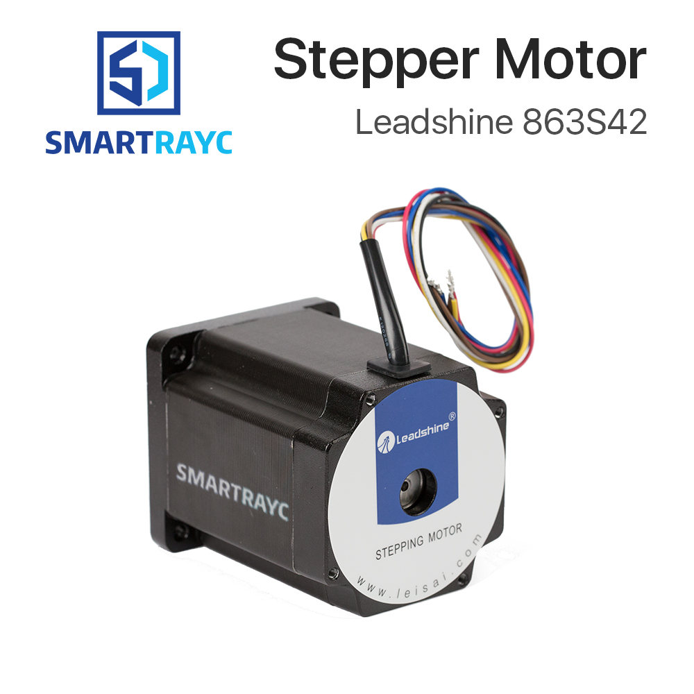 Smartrayc Leadshine 3 Phase Stepper Motor 863S42 for NEMA34 4.3A Length 103mm Shaft 12mm leadshine 3 phase stepper motor 863s42 nema34 series step angle 1 2 degrees 5 0a 4 0n m stepping motor drive