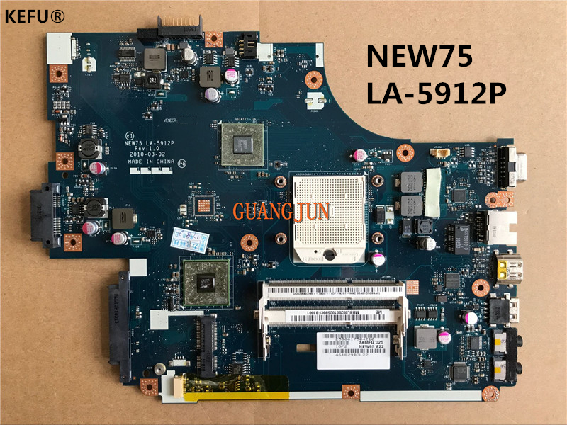 KEFU 5551G 5552 5552G 5551 MBBL002001 Motherboard FOR GATEWAY NV53A MB.BL002.001 NEW75 LA-5912P Testing Fast Ship