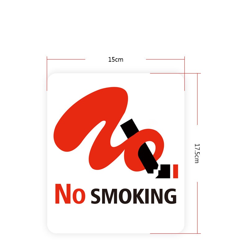 Acrylic No Smoking Signboard Custom Printing Letter Sign Wall Warning Signage Plate Customized Non-Smoking Signs Board Plaques signage