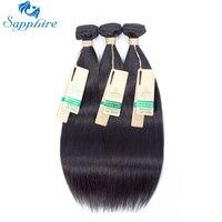 Sapphire Straight Remy 3 Bundle Deals Straight Hair 1B# Color Salon Hair High Ratio Longest Hair PCT 25% Malaysian Hair Weaving