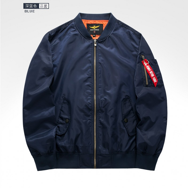 men's MA01 royal air force one pilot jackets stand collar solid casual loose bomber jacket female baseball coats 8807