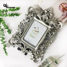 European Style Resin Rectangle Photo Frames 6inch Hollow Tableset Carving Crafts Table Decoration