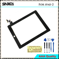 Sibeda 100 Guarantee Touch Glass Screen For IPad 2 A1395 A1396 A1397 Touch Screen Panel Digitizer