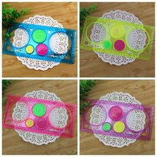 Spirograph Geometric Ruler Whit A Four Colour Pen Art Sets Creative Gift For Children Drafting Tools Stationery For Kids Drawing