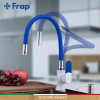 FRAP kitchen faucets kitchen sink faucets colour kitchen mixer deck mounted water mixer tap faucet for kitchen