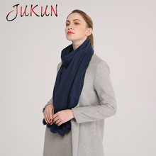 Women Winter Scarf Scarves Wrap Shawl Solid Color rabbit hair ball  Warm Cashmere Wool Blend Knit