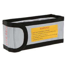 15 6 4 5cm Silver High Quality Glass Fiber RC LiPo Battery Safety Bag Safe Guard