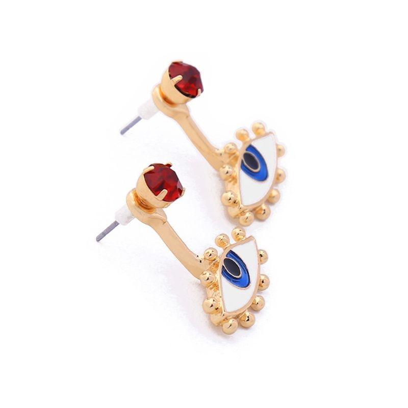 ANGELADY 1 par dama pendientes lindo esmalte ojos maldito azul ojo pendientes para las mujeres joyería de moda