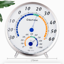 Thermometer Hygrometer Temperature Humidity Meter Weather Station Indoor Outdoor quality stainless steel clockface diameter170mm indoor high precision stainless steel thermometer hygrometer home multi function large screen temperature and humidity meter