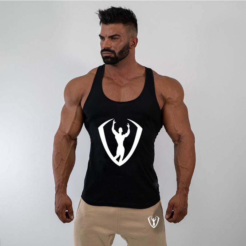 GYMPXINRAN Summer Fitness Men   Tank     Top   Mens Bodybuilding Stringers   Tank     Tops   Singlet Brand Clothing Sleeveless Shirt