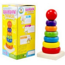 ColorfulTower  rainbow Tower tower blocks sets,Free Shipping