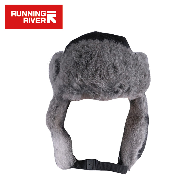 RUNNING RIVER Brand Skiing Hat For Men Windproof Cony Hair Cap Male Hat Of Lei Feng Free Size Polyester Running Sport Cap #Y4757 men male wool blend newsboy beret cap grid blank thick flat cowboy cabbie hat