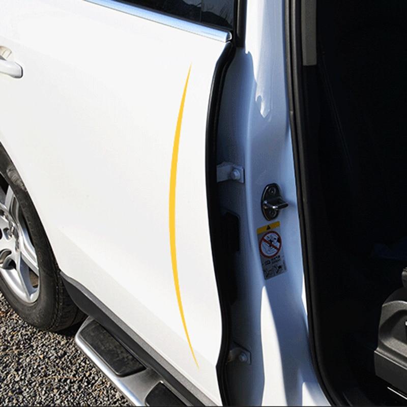 2Pcs B Pillar Car Door Seal Strip Rubber Sealing Strips Rear Edge Trim Windproof