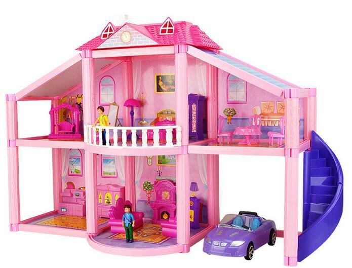 Bricolage maison de poupée assemblage à la main en bois cochon maison jouets développementaux