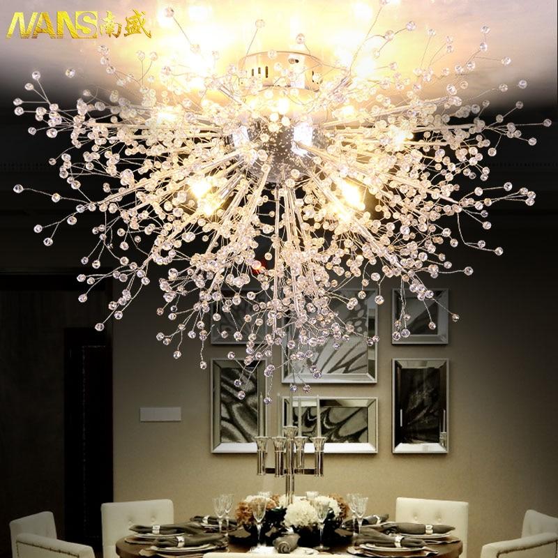 NANS Moderne Plafonnier Avec LED Ampoule Plafonnier Cristal Plafonniers pour le Salon Chambre lamparas de techo abajur