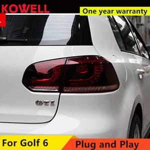 Image 4 - KOWELL 자동차 스타일링 VW 골프 6 MK6 GOLF6 R20 테일 라이트 LED 테일 라이트 LED 후면 램프 DRL + 브레이크 + 반전 + 신호 어셈블리