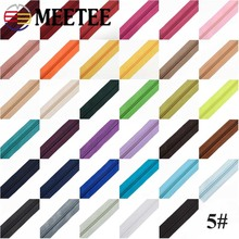 Meetee 5# 5/10meters Nylon Zipper +Pull Sliders for Home Textile Clothing Luggage