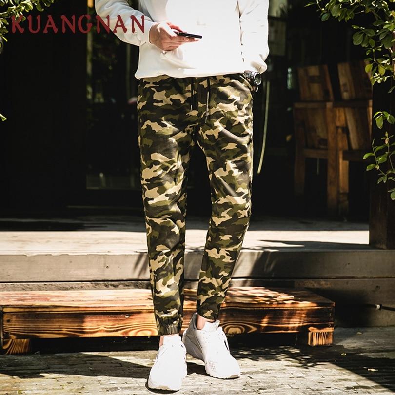 KUANGNAN Men Trousers Sweatpants Camouflage-Pants Joggers Streetwear Japanese Hip-Hop