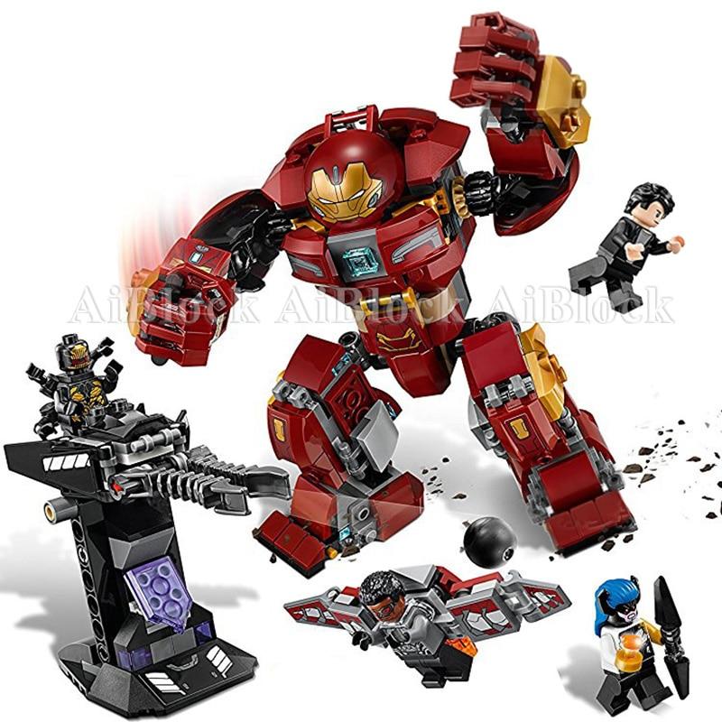 Ironman Hulkbuster Smash-U Blocs de Construction Compatible Avec legoing Iron Man 76104 Marvel Super Héros Avengers Infinity Guerre Jouet