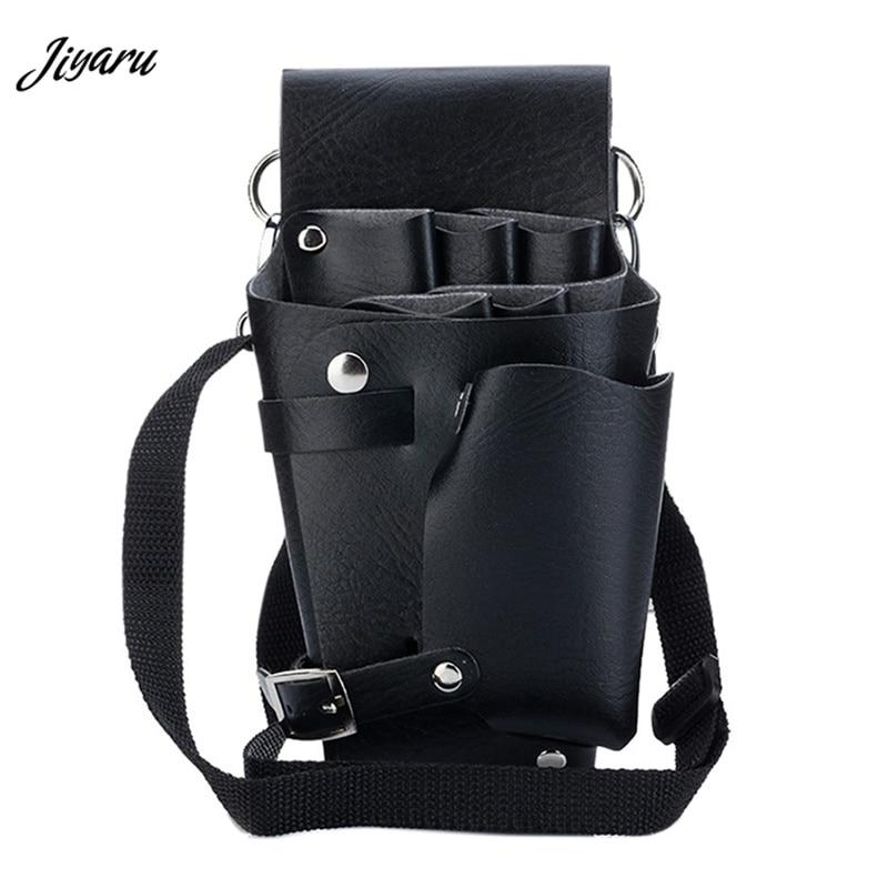 Leather Barber Hair Scissor Bags Waterproof Hairdressing Holster Waist Bag Fanny Pack Comb Bags with Shoulder Belt Waist Packs