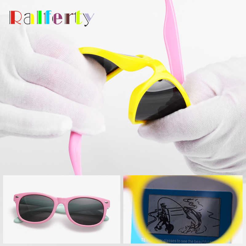 Ralferty Kids Sunglasses Polarized (5% OFF ORDER ANY 2) TR90 Flexible Frame UV400 Pink Baby Boy Girl Children Sun Glasses Infant