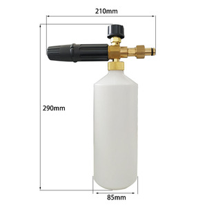 Image 3 - City Wolf High Pressure Snow Foam Lance Foam Gun Soap Bottle for REAP Car Washer accessory auto spare parts