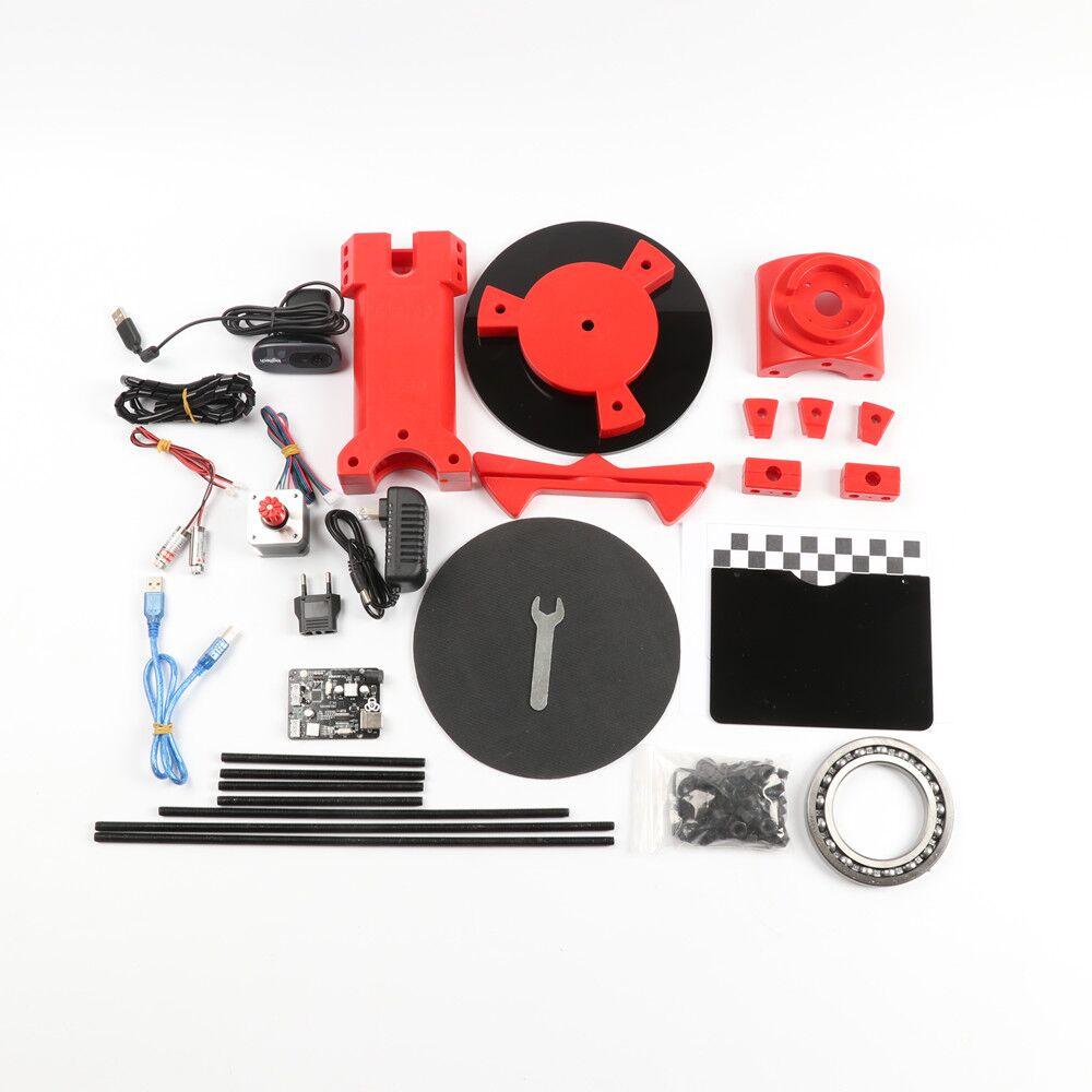 HE3D 3d scanner DIY kit, NEW red injection molding plastics,Reprap 3d Open  source Portable 3d scanner for 3d printer