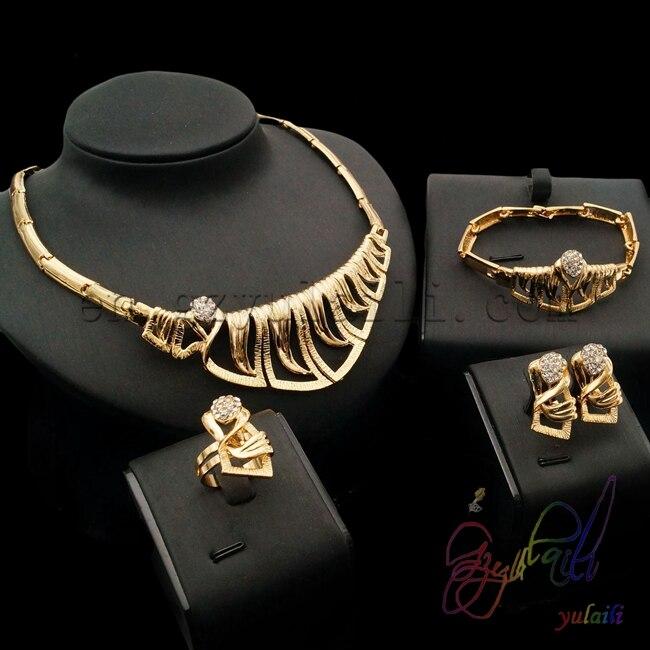 Оптовая продажа итальянский набор золотых украшений свинец и никель безопасный сплав наборы бижутерии с низкая цена