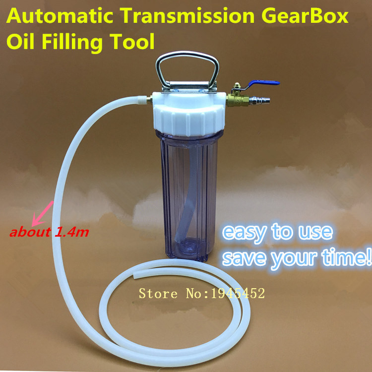 Car Transmission Oiling Inset Filling Exchange Machine Device With Long Plastic Transfer Pipe Connector Valve Auto Repair Tool