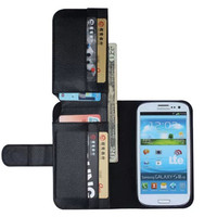1 X Super Wallet Flip Leather Case For Samsung Galaxy S3 Neo I9301I S3 NEO I9300i