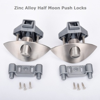 2xzinc alloy half moon handle push lock latch knob caravan rv cupboard/drawer camper kitchen cabinet door locks hardware patrs