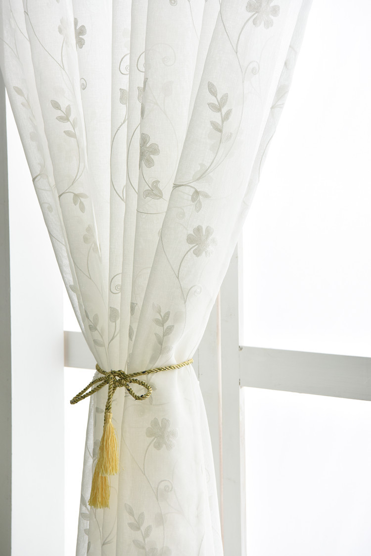 2019 European Embroidered Voile Curtains Bedroom Sheer Curtains For Living Room Tulle Window Curtains Panels Window Screening S101 30 From Carmlin
