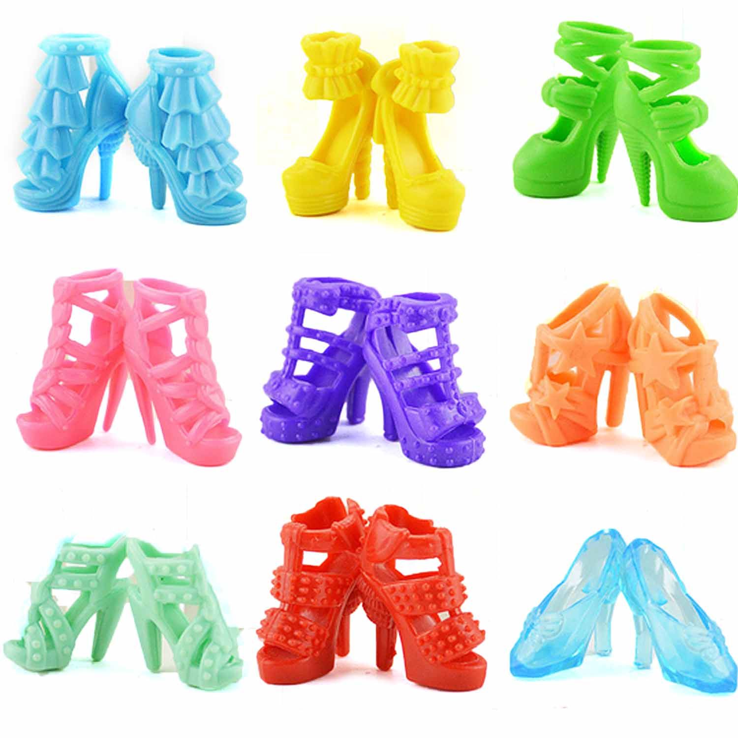 4Pairs Fashion Sneackers For Doll Mini Toy for  Doll Shoes Accessories HICA