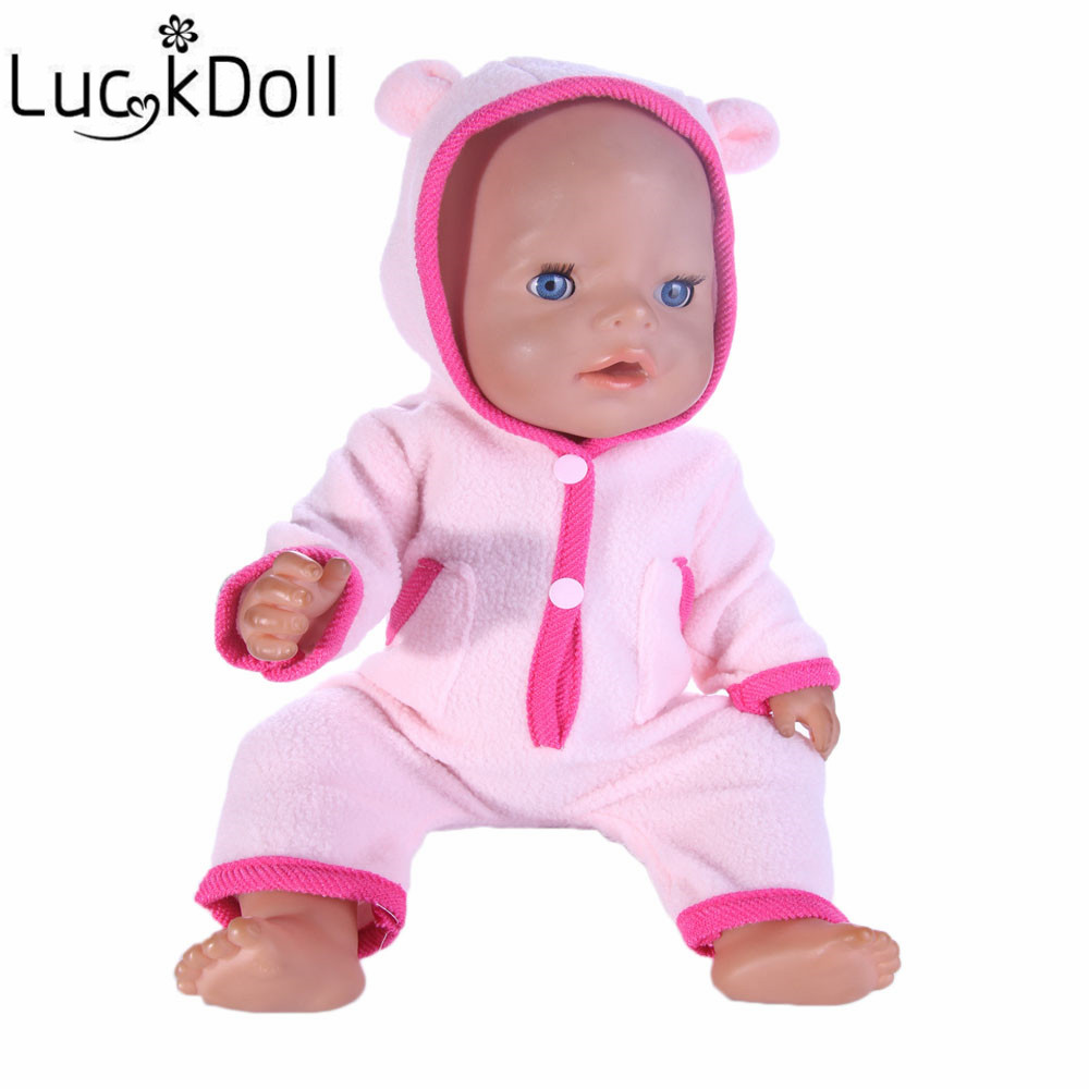 luck doll  pink color Doll Accessories Casual clothes Wear fit 43cm Baby Born zapf, Children best Birthday Gift b608 2color choose leisure dress doll clothes wear fit 43cm baby born zapf children best birthday gift only sell clothes