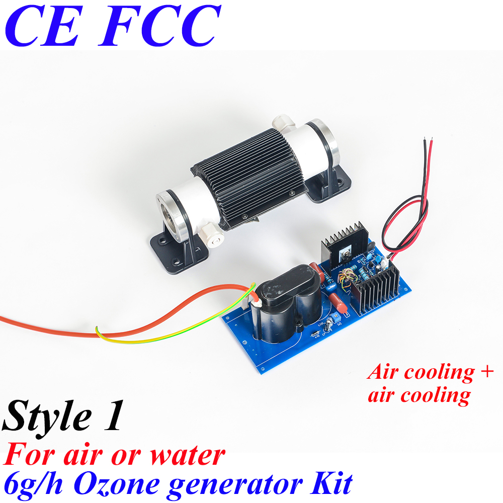 Pinuslongaeva CE EMC LVD FCC Factory outlet 6g/h Ceramic tube type ozone generator Kit 6 grams air water disinfection module pinuslongaeva ce emc lvd fcc factory outlet 10g h quartz tube type ozone generator kit high voltage discharge type ozone kits