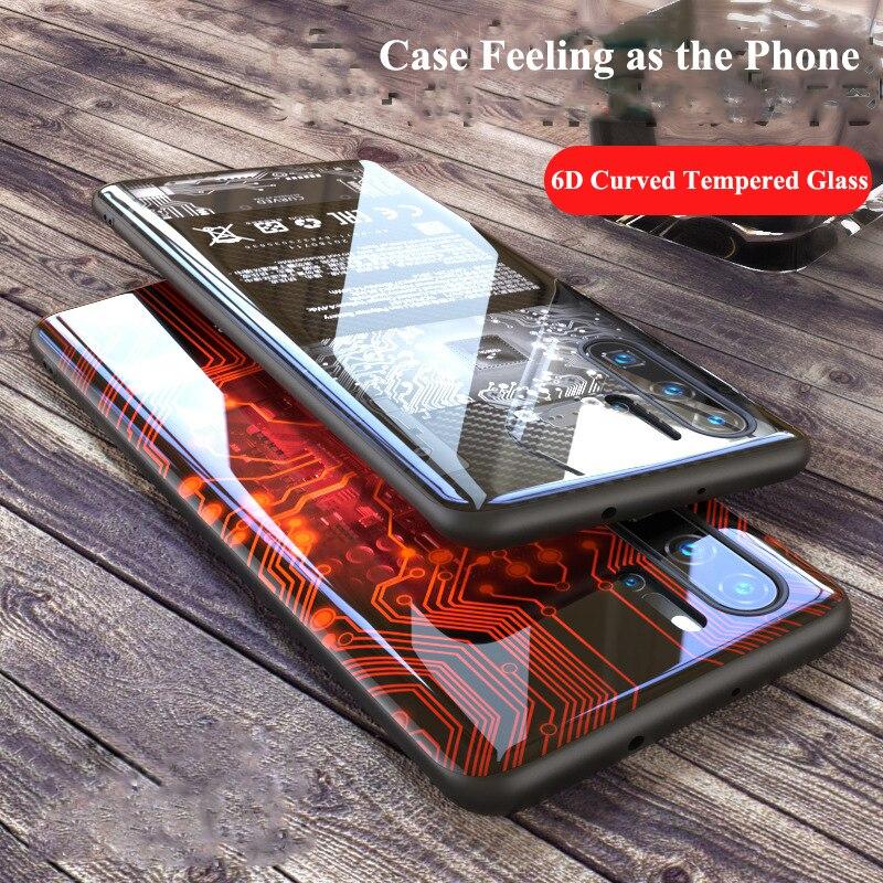 Pour Huawei P30 Pro Mate 30 5G 20 Pro étui 6D incurvé coque de téléphone en verre trempé couverture pour Huawei P 30 Mate30 couverture Funda Caphina