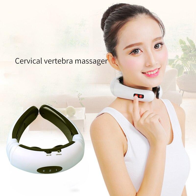 Elektrischen Impuls Zurück und Neck Massager Fernen Infrarot Heizung Schmerzen Relief Werkzeug Gesundheit Pflege Entspannung Multifunktionale Physiotherap