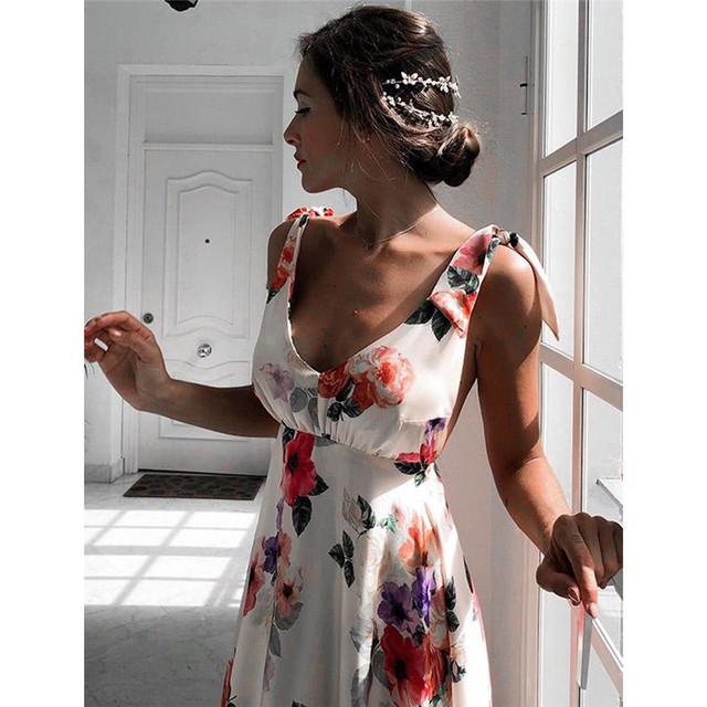 Sleeveless Backless Long Boho Dress
