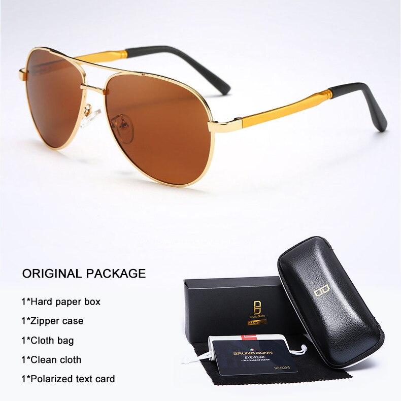 Bruno Dunn 2020 Aviation Men Sunglasses Polarized Sun Glases oculos de sol masculino aviador UV400 high quality  Sunglases 16