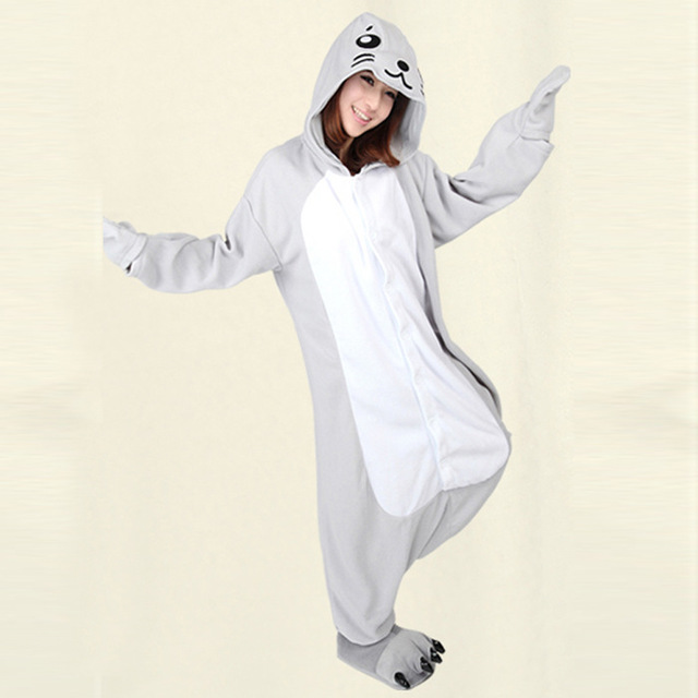66860a21a1 Onesie For Christmas Gifts Animal Dolphin Adult Pyjamas Animal Suit Pajamas  Sleepwear Cosplay Halloween Costume Size S M L XL