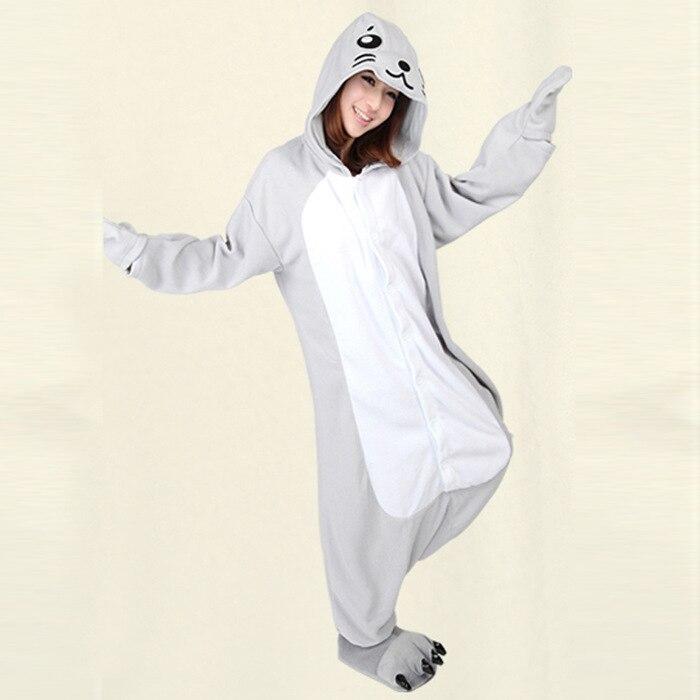 Onesie pour cadeaux de noël Animal dauphin adulte Pyjamas Costume Animal Pyjamas vêtements de nuit Cosplay Halloween Costume taille S M L XL