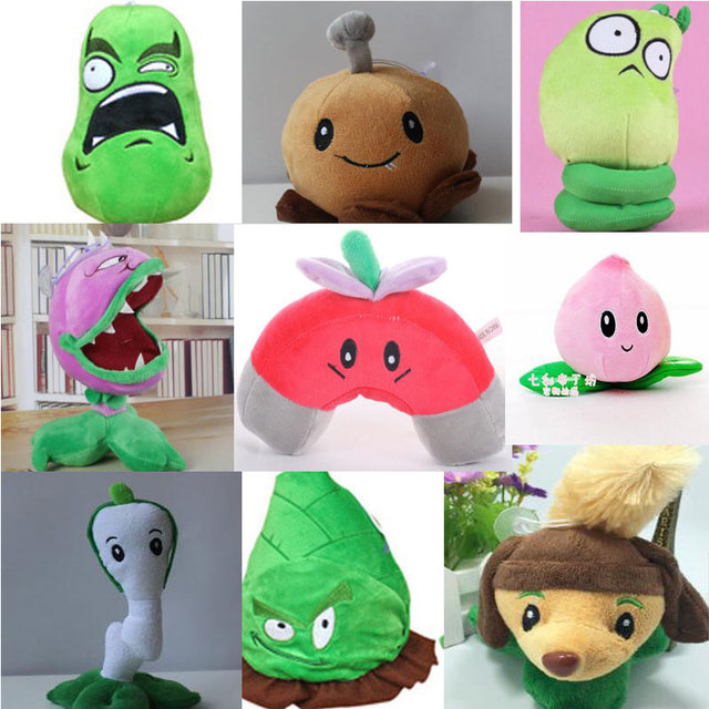 9 pçs set planta vs zumbi brinquedo de pelúcia boneca jogos plants