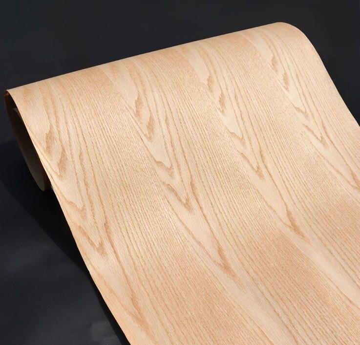 Length: 2.5Meters  Thickness:0.3mm  Width: 60cm Technological Red Oak Patterns Wood Veneer Kraft Paper Composite Veneer