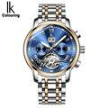 IK цветные мужские часы  роскошные многофункциональные автоматические механические мужские наручные часы класса люкс