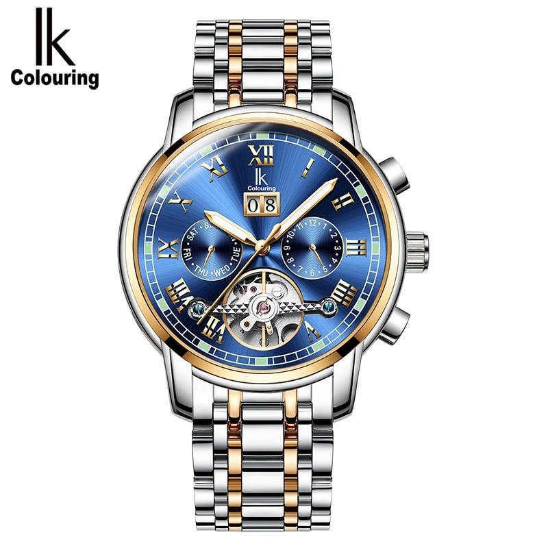 IK Colouring Mens Watches, Luxury Multifunction Class Automatic Mechanical Men Wrist Watch
